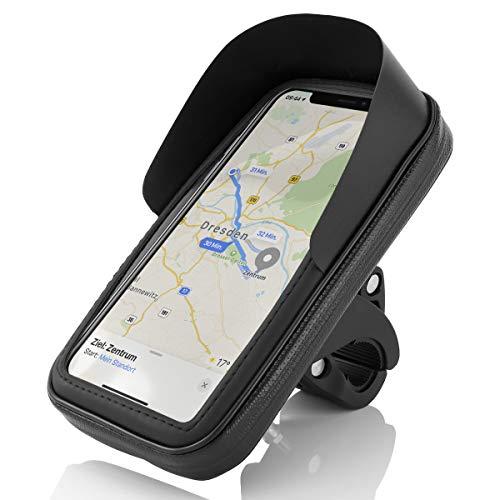 MidGard Spritzwassergeschützte Fahrrad- und Motorrad-Halterung Universal mit Wasserdichter Tasche für Handy Smartphone 5,2 Zoll - 5,5 Zoll wie z.B. iPhone/Samsung/Huawei/Sony usw.