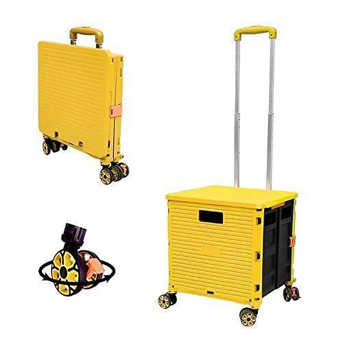 WXYZ Einkaufskorb mit Rollen Einkaufskorb Trolley, 8-Rad-Einkaufswagen, Im Freien Beweglichen Gabelhubwagen, Bewegliche Treppenwagen, Auto-Kofferraum Aufbewahrungsbehälter, 48L Can Bär 40kg