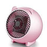 Calefactor Fuego Mini calentador Micro Inicio de aire caliente 250W 500W velocidad ?? calentador caliente Silencio Oficina compartida de Escritorio Calentador de invierno Chimenea eléctrica libre rosa