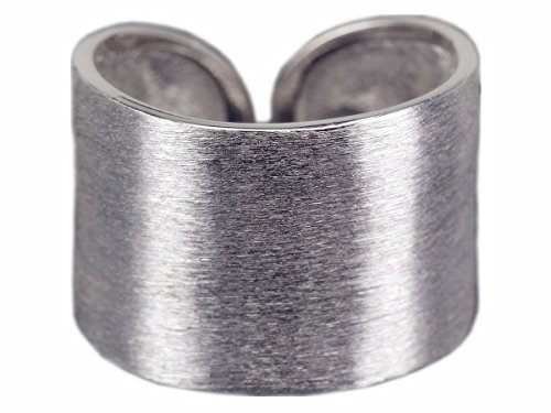 NicoWerk Silberring Bandring Breit Schlicht Matt Ring Silber 925 Verstellbar Damenringe Damen Schmuck SRI195