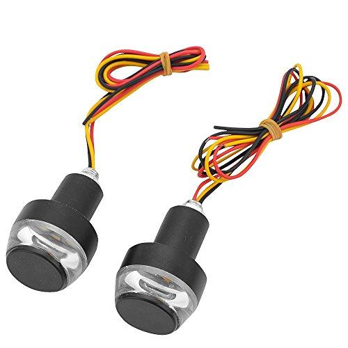 Moto 12 V Ambre LED Indicateur de poignée Bar End prise en main Plug Tour Signal lumière latérale Feux de gabarit