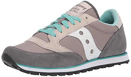 Saucony womens Jazz Low Pro Sneaker, Grey/White, 11 M US