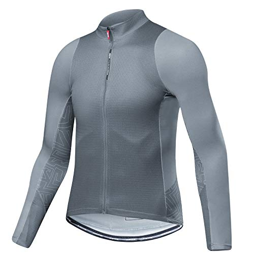 Santic Cycling Jersey Men's Long Sleeve Tops Mountain Bike Shirts Bicycle Jacket with...