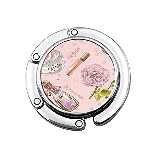 Nette Faltbare Geldbörse Kleiderbügel Haken Rose Rose Naturkosmetik Make-up Hautpflege Parfüm Pulver Lipgloss Handtasche Haken Tischtasche
