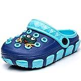Sabots et Mules Enfants Sabots Pantoufles Chaussures Mixte Enfant Bébé Fille Garçon Antidérapant Eté Piscine de Jardin ,27 EU, Bleu