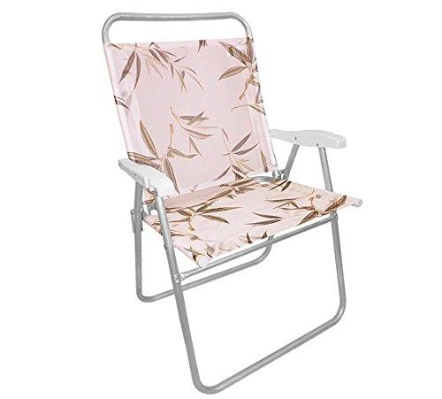 Cadeira De Praia Bambu King 130kg Dobradiça Reforçada Zaka