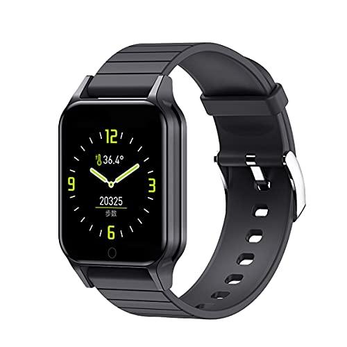 T96 - Reloj inteligente para hombre de 1,3 pulgadas, Bluetooth 4.2, IP67, resistente al agua, Sleep/Heart Rate/Blood Pressure Monitor Sports Band (negro)