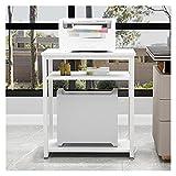 Soporte para ImpresoraOrganizador Soporte de impresora de escritorio, soporte de impresión de 3 niveles Soporte de escritorio para almacenamiento multifunción Estante de almacenamiento Estantería, imp