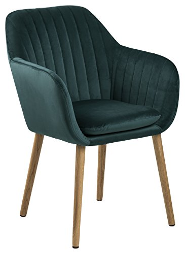 AC Design Furniture Stuhl Wendy, B: 57 x T:61 x H: 83 cm, Metall, Grün