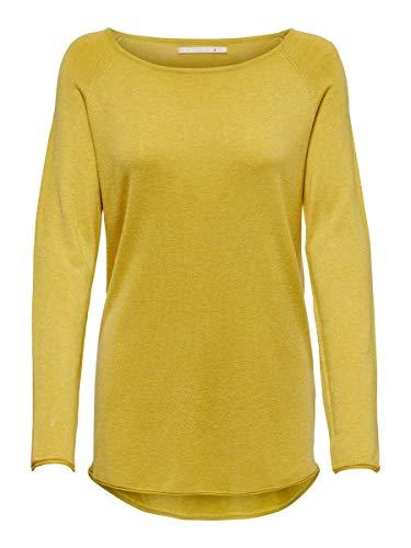 ONLY Damen Strickpullover Lang SYolk Yellow