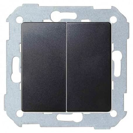 Simon 8200398-096 - Interruptor doble 10AX Emb rápido + teclas
