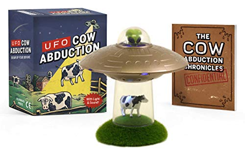 UFO Cow Abduction: Beam Up Your Bovine (With Light and Sound!) - gag gift