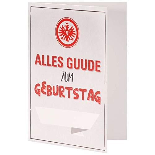 Eintracht Frankfurt Karte - Alles Guude - Geburtstagskarte, Glückwunschkarte SGE - Plus Lesezeichen I Love Frankfurt
