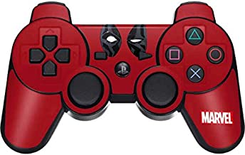 Skinit Decal Gaming Skin for PS3 Dual Shock Wireless Controller - Officially Licensed Marvel/Disney Deadpool Eyes Design