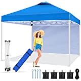 Pop Up Canopy Tent 10x10,pop up Canopy with Sidewalls,Roller Bag,800D 3 Adjustable Height Pop-up Instant Tent Shelter,Outdoor Canopies Commercial Gazebo,Camping Canopy for Party/Exhibition/Picnic