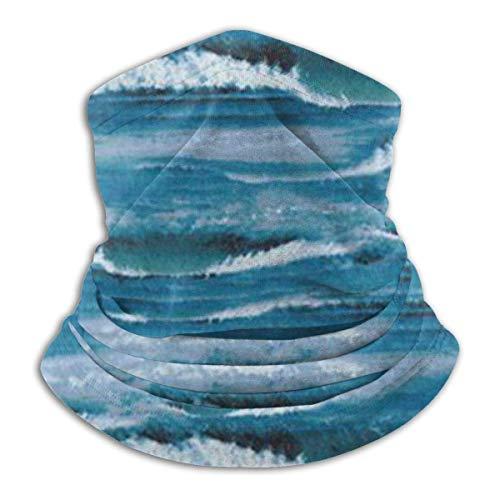 ULNIKU-T Waves Surf Ocean Dust Protección solar resistente al viento Unisex sin costuras Rave BandaNeck Gaiter Tubo Headwear BandaSummer UV Protección Cuello Polaina Cara Bufanda