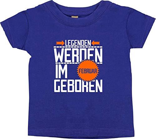 Shirtstown T-SHIRT ENFANTS légendes de Février né - mauve, 24-36 Monate