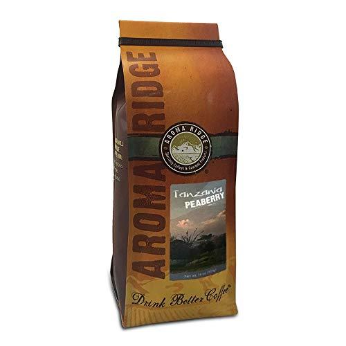 Aroma Ridge, Tanzania Peaberry Coffee, Mount kilimanjaro, Freshly Roasted , Whole Bean, 16oz
