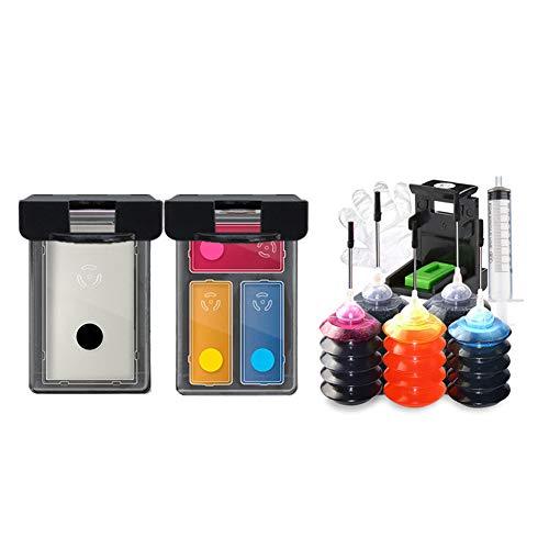 GYBN Printer vulling grote capaciteit 802 inktcartridge, voor HP 1050 1000 1010 1101 1102 1510 2050 1011 deskjet met printer voor het bijvullen van grote capaciteit XL zwarte kleur, size, 2-set