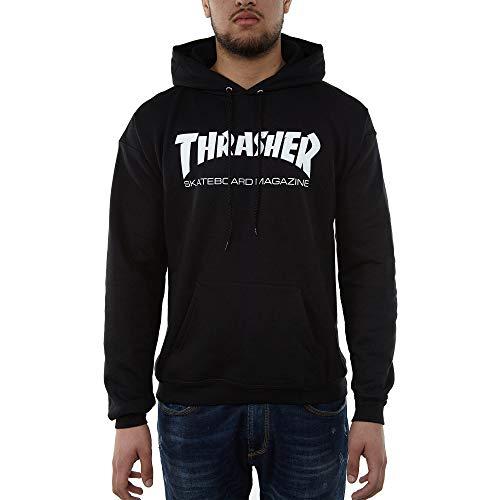 THRASHER Skate mag Hood Sudadera, Unisex Adulto, Black, S