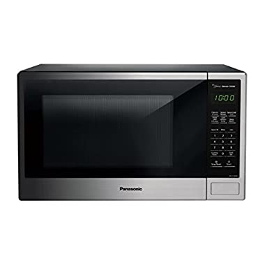 Panasonic NN-SU696S Countertop Microwave Oven with Genius Cooking Sensor and Popcorn Button, 1.3 cu. ft, 1100W, Stainless