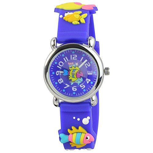 Teenie-Weenie UW835B - Orologio da polso bambini, cinturino in caucciù colore blu