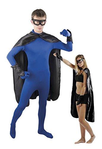 P'TIT Clown re50702, Costume adulte super héros, noir