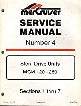 1986 MERCRUISER #4 STERN DRIVE UNIT MCM 120-160 SERVICE MANUAL P/N90-86137 (450)