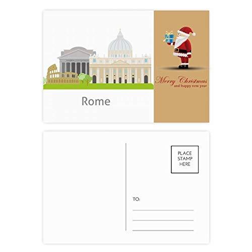 Postkarten-Set mit Weihnachtsmann-Motiven, Motiv: Rom, Landschaft, 20 Stück