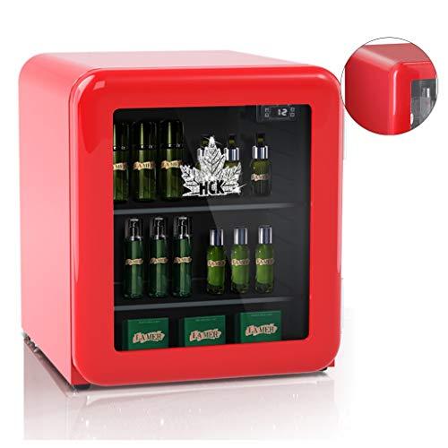 Refrigerador Pequeño Cosmético Mini Refrigerador Retro De Belleza Refrigerador De Una Puerta con Máscara Ajuste Flexible Combinación Libre Tamaño Pequeño (Color : Red, Size : 44 * 47.5 * 50cm)