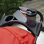 PawHut Folding Pet Stroller 3 Wheel Dog Jogger Travel Carrier Adjustable Canopy Storage Brake Mesh Window for Small Medium Dog Cat Red 16