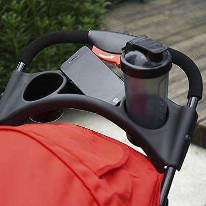 PawHut Folding Pet Stroller 3 Wheel Dog Jogger Travel Carrier Adjustable Canopy Storage Brake Mesh Window for Small Medium Dog Cat Red 7