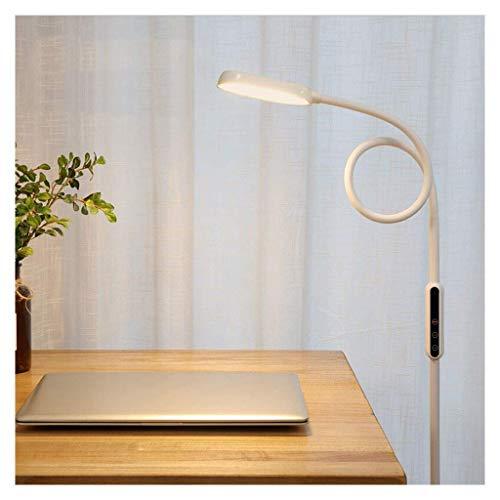 WEM Lámparas de pie para el hogar Lámpara de cabecera de sofá moderna y sencilla Led Lámpara de piano para aprender a leer Interruptor de control remoto/táctil blanco vertical con atenuación de cin