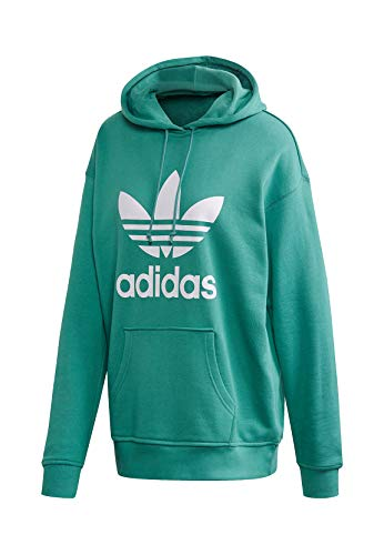 adidas TRF Hoodie Sweat-Shirt Femme, Future Hydro f10/White, FR : XS (Taille Fabricant : 38)