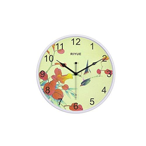 WALL CLOCK Silencieux Exquis Balayage en Métal Secondes Cadeaux Sonnerie Cloche de Mariage Horloge Moderne Maison Salon électronique Horloge, White