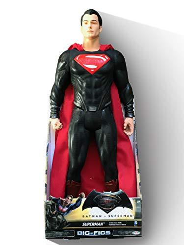 "Jakks Pacific Big-FIGS Batman V Superman 19"" Superman Figure - Variant Black & Red Suit with RED Eyes"