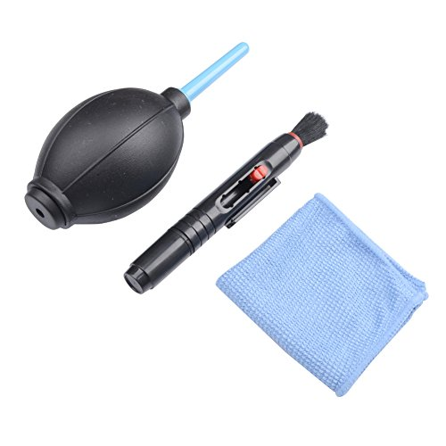 MUZOCT 3 en 1 DSLR cámara lente Kit de limpieza con lente Pen Brush Pelusa Toallitas sin soplador de aire Kit para Canon Nikon Sony filtro de lente