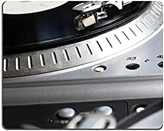 Mouse pad Gaming Mouse pad Turntable Player with Musical Vinyl Record Useful for DJ Nightclub Retro Theme PN00X2119