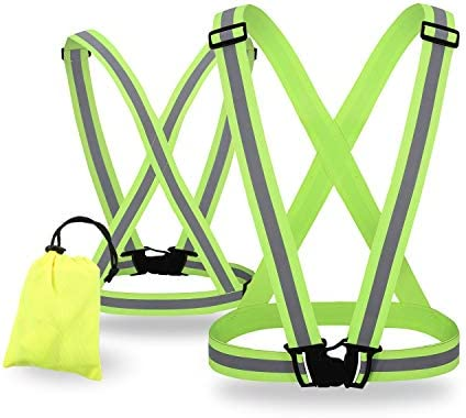 SIFE High Visibility Adjustable Reflective Safety Vest Lightweight Elastic Safety for Running product image