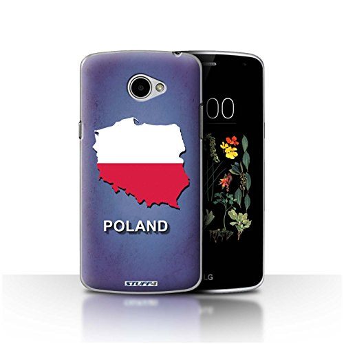 Hülle Für LG K5/X220 Flagge Land Polen/Polen Design Transparent Ultra Dünn Klar Hart Schutz Handyhülle Hülle