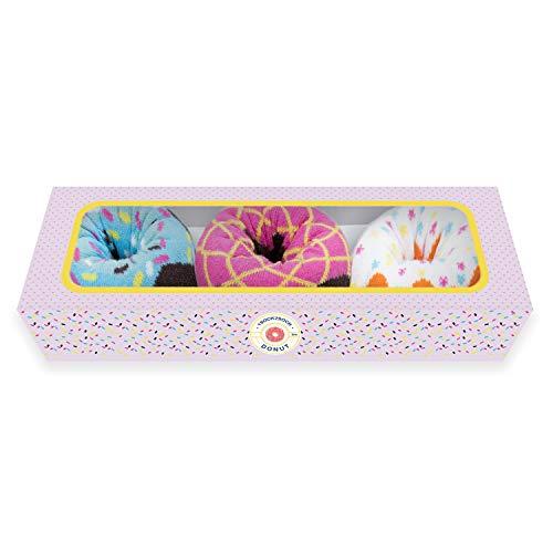 1SOCK2SOCK Women's Donut Socks Gift Boxes Cotton And Bamboo Multipack