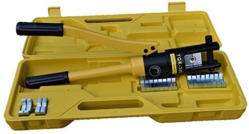 Soontrans Hydraulische Presszange Crimpzange Kabelzange 10-300 mm² Kabelschuhe Zange, 360°, Drehbarer, 16T