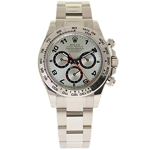 Rolex Cosmograph Daytona White Gold Silver Dial Watch 116509