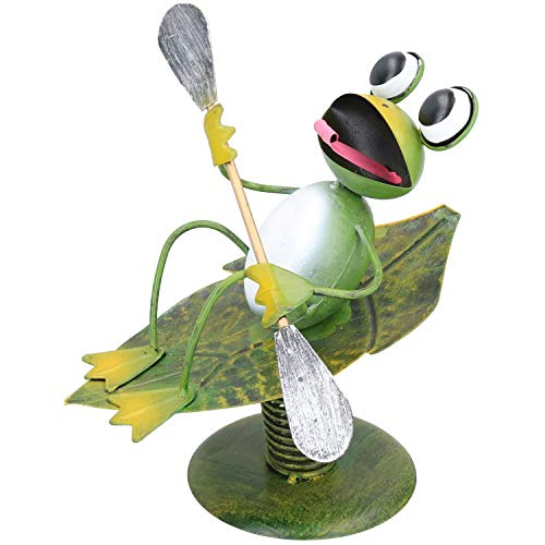 AB Tools Quirky Surfin Frog Wobbler Le décor de Jardin Ornement Sculpture Don 22x23x25cm