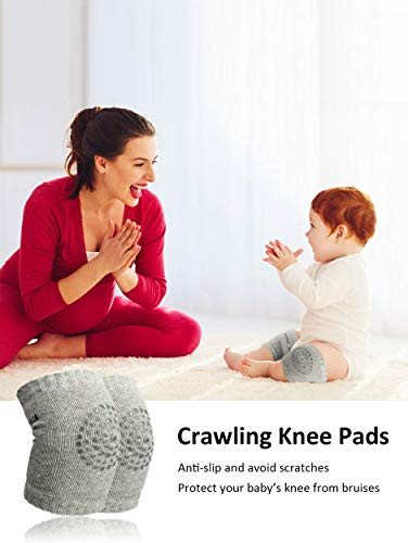 Truvic 3 Pairs Baby Knee Protection Pad for Kids Crawling, Anti-Slip Padded Stretchable Elastic Cotton Soft Breathable… 6 4126BdqFRDL