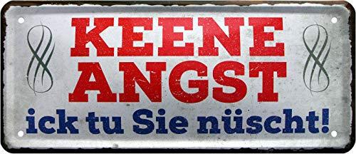 Keene Angle, ick tu ES nühen ! Berlinerisch 1323 Plaque décorative en tôle 28 x 12 cm