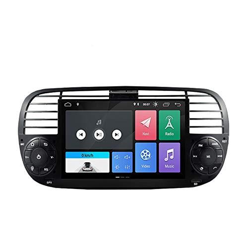 ESTOCK1 ANDROID 10.0 autoradio navigatore per Fiat 500 Fiat Abarth 500 2007-2015 wi-fi GPS 7  USB WI-FI Bluetooth Mirrorlink color Nero CAR TABLET wi-fi radio