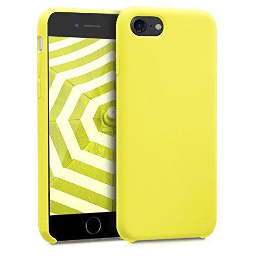 kwmobile Cover Compatibile con Apple iPhone 7/8 / SE (2020) - Cover Custodia in Silicone TPU - Back Case Protezione Cellulare Giallo Fluorescente