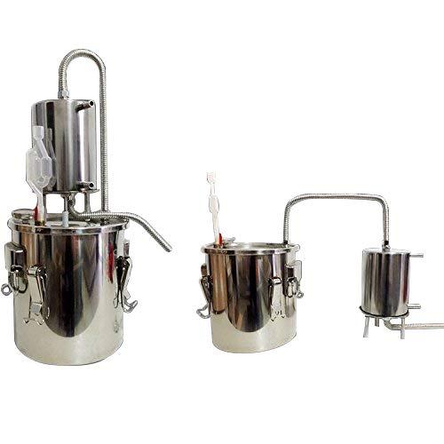 CASA DIY 10-35L Alambique Destilador Caldera Termómetro Vino Alcohol Agua Esencial Aceite...