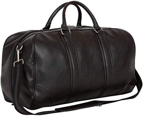 Ben Sherman 20 Vegan Leather Travel Duffel Bag Top Zip Weekender Carry On Duffle Luggage Brown product image